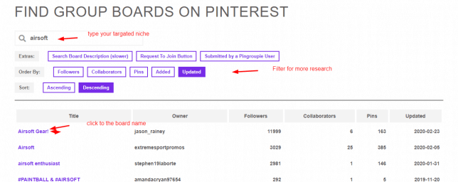 how to find group board on pinterest